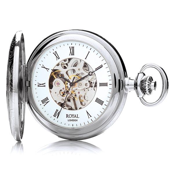 ロイヤル ロンドン ROYAL LONDON 手巻き 懐中時計 ポケットウォッチ 90009-02 シルバー