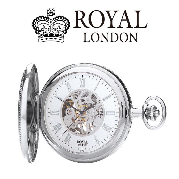ロイヤル ロンドン ROYAL LONDON 手巻き 懐中時計 ポケットウォッチ 90029-01 シルバー【楽ギフ_包装】