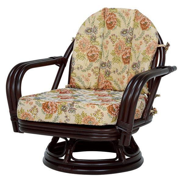 萩原 回転座椅子(ダークブラウン) RZ-932DBR 4934257231800 【代引き不可】