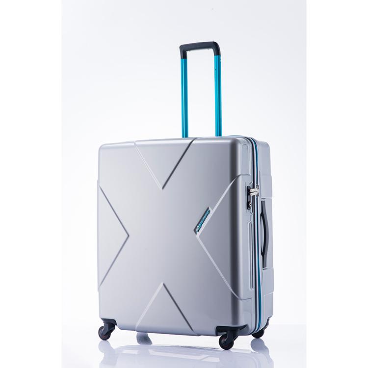 ヒデオワカマツ HIDEO WAKAMATSU メガマックス スーツケース 85-75955 シルバー