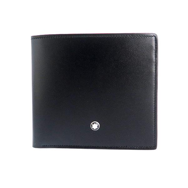 モンブラン MONTBLANC マイスターシュテュック 短財布 7163 ブラック
