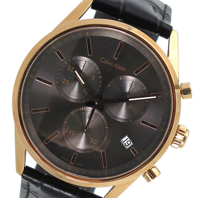 カルバンクライン CALVIN KLEIN クロノグラフ クオーツ メンズ 腕時計 時計 K4M276C3 グレー