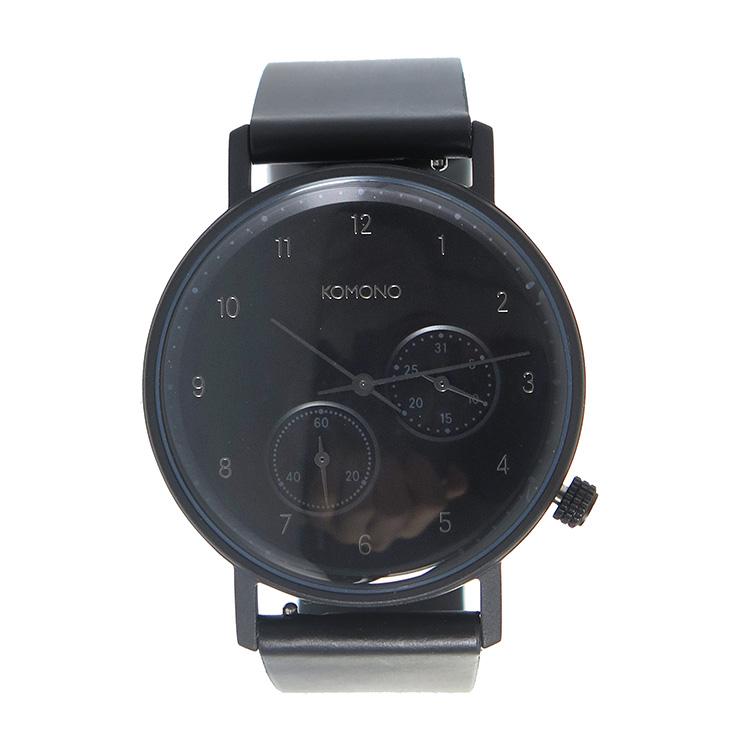 コモノ KOMONO クオーツ メンズ 腕時計 時計 KOM-W4004 ブラック【楽ギフ_包装】