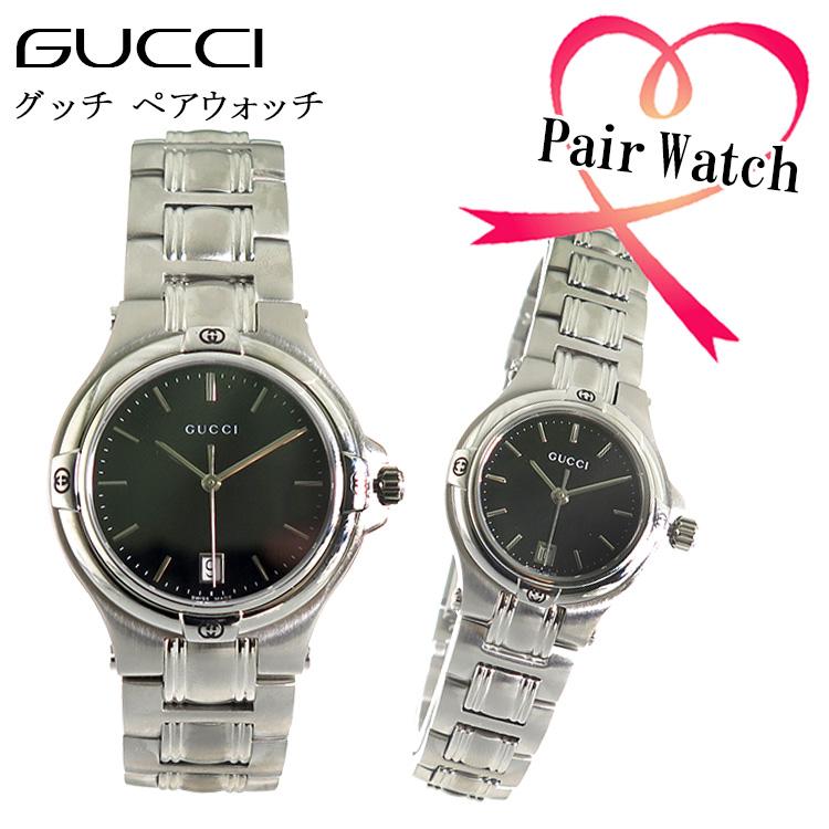 【ペアウォッチ】 グッチ GUCCI クオーツ 腕時計 YA090304 YA090506【送料無料】