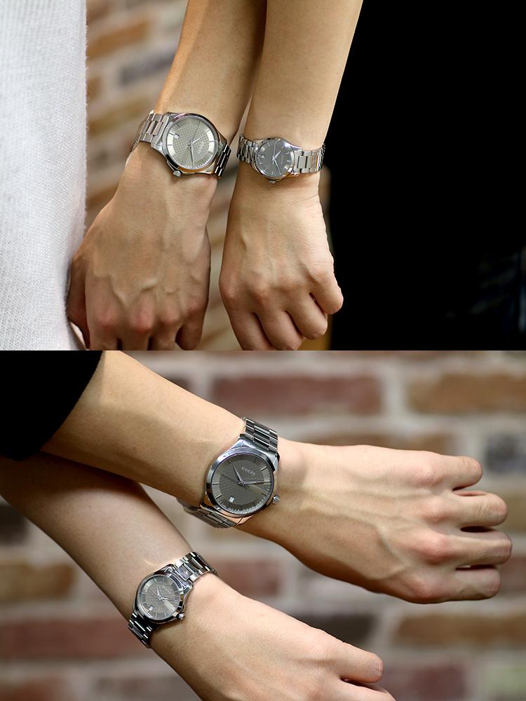 【ペアウォッチ】 グッチ GUCCI Gタイムレス クオーツ 腕時計 YA126445 YA126526【】【楽ギフ_包装】