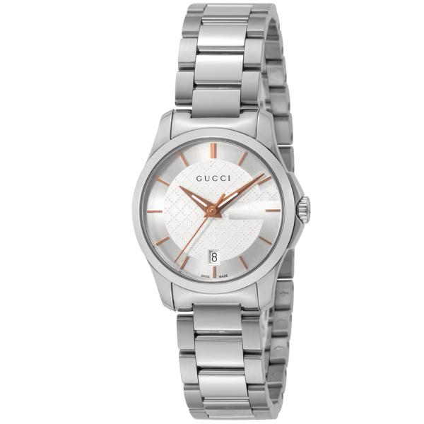 グッチ GUCCI Gタイムレス クオーツ レディース 腕時計 YA126523 シルバー【送料無料】
