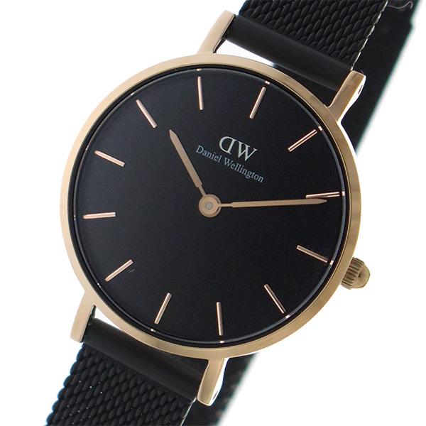 ダニエル ウェリントン クラシック ぺティート アッシュフィールド ブラック 28mm レディース 腕時計 時計 DW00100245