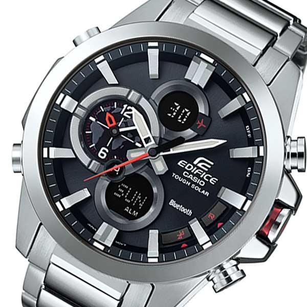 カシオ エディフィス ソーラー メンズ 腕時計 時計 ECB-500D-1AJF ブラック 国内正規