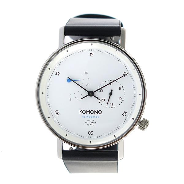 コモノ KOMONO Walther クオーツ ユニセックス 腕時計 時計 KOM-W4032 ホワイト【楽ギフ_包装】