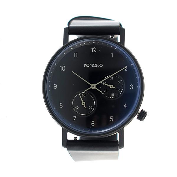 コモノ KOMONO Walther クオーツ ユニセックス 腕時計 時計 KOM-W4033 ネイビー【楽ギフ_包装】