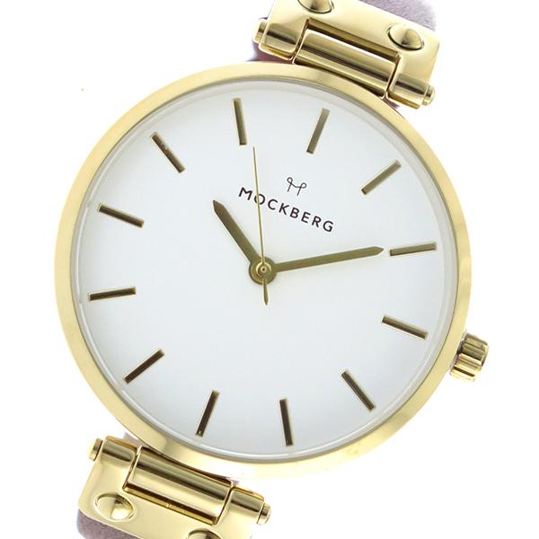 モックバーグ MOCKBERG クオーツ レディース 腕時計 時計 MO108 ホワイト【楽ギフ_包装】