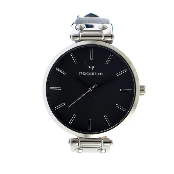 モックバーグ MOCKBERG クオーツ レディース 腕時計 時計 MO111 ブラック【楽ギフ_包装】