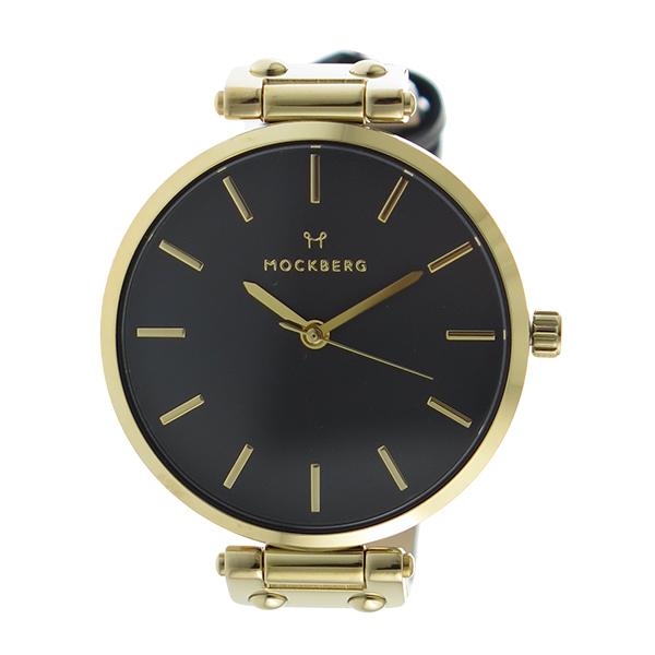 モックバーグ MOCKBERG クオーツ レディース 腕時計 時計 MO113 ブラック【楽ギフ_包装】