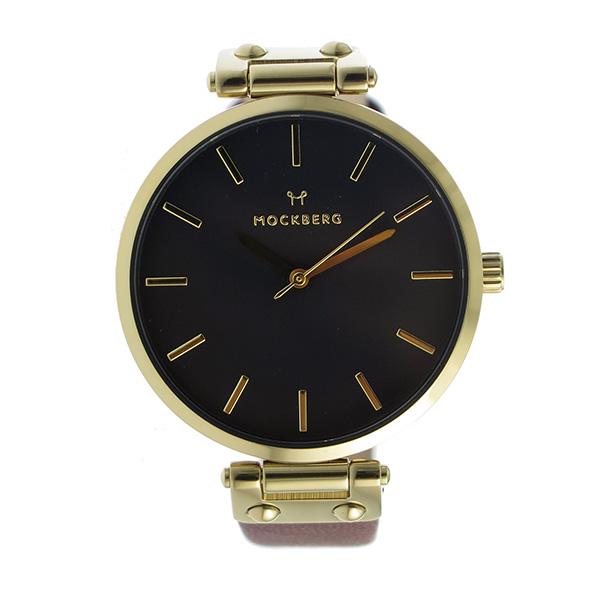モックバーグ MOCKBERG クオーツ レディース 腕時計 時計 MO114 ブラック【楽ギフ_包装】