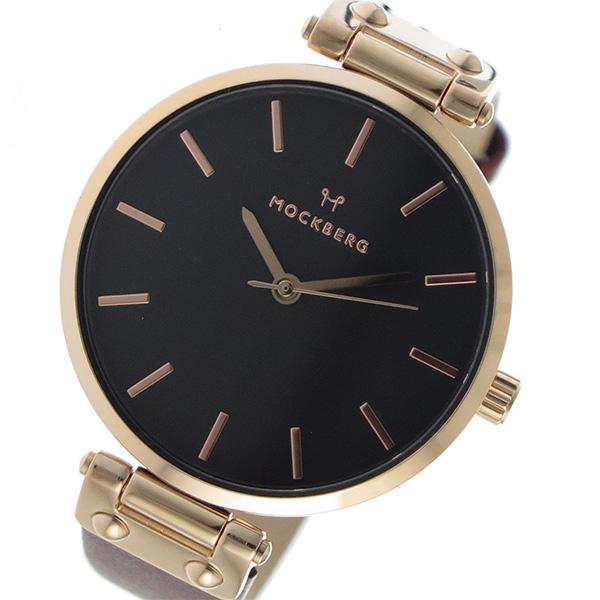 モックバーグ MOCKBERG クオーツ レディース 腕時計 時計 MO115 ブラック【楽ギフ_包装】