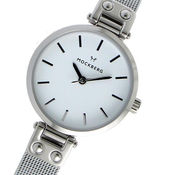 モックバーグ MOCKBERG クオーツ レディース 腕時計 時計 MO402 ホワイト【楽ギフ_包装】