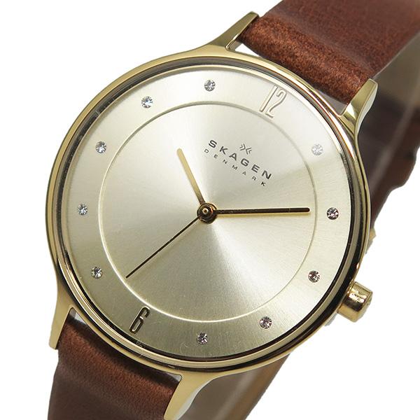 スカーゲン SKAGEN クオーツ レディース 腕時計 時計 SKW2147 シャンパンゴールド