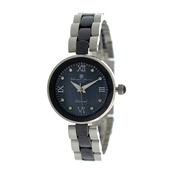 サルバトーレマーラ SALVATORE MARRA クオーツ レディース 腕時計 時計 SM17153-SSBKR ブラックシェル【楽ギフ_包装】