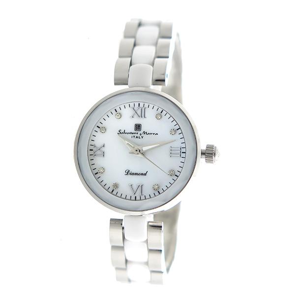 サルバトーレマーラ SALVATORE MARRA クオーツ レディース 腕時計 時計 SM17153-SSWHR ホワイトシェル【楽ギフ_包装】