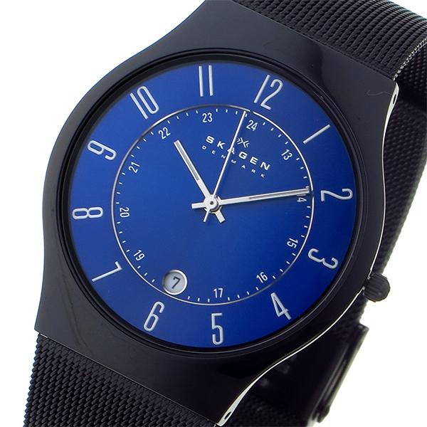 スカーゲン SKAGEN ウルトラスリム チタン メンズ 腕時計 時計 T233XLTMN ブルー