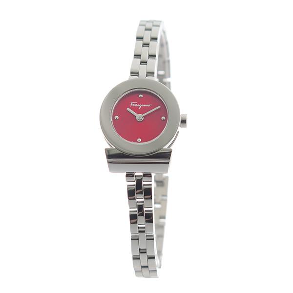 サルヴァトーレ フェラガモ クオーツ レディース 腕時計 FBF060017 レッド【】【楽ギフ_包装】