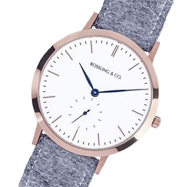 ROSSLING ロスリング MODERN 36MM Stirling クオーツ ユニセックス 腕時計 時計 RO-003-014 ライトグレー/ホワイト