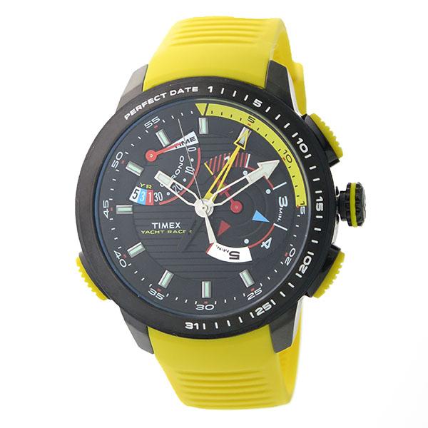 タイメックス TIMEX ヨットレーサー クロノ クオーツ メンズ 腕時計 時計 TW2P44500 ブラック/イエロー【楽ギフ_包装】