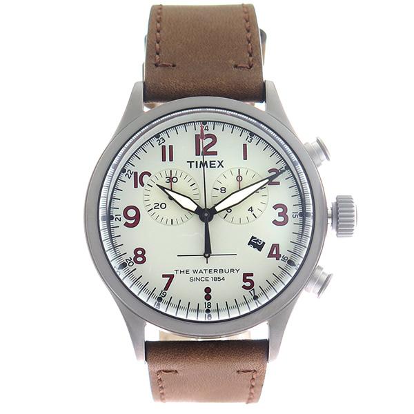 タイメックス TIMEX ウォーターベリー Waterbury クロノ クオーツ メンズ 腕時計 時計 TW2R38300 グレー/ブラウン【楽ギフ_包装】