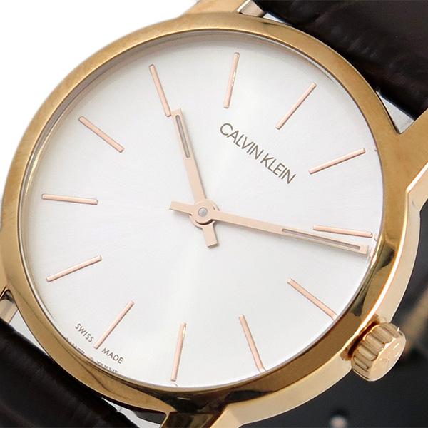 カルバンクライン CALVIN KLEIN 腕時計 時計 レディース K2G23620 シティー CITY クォーツ シルバー ブラウン