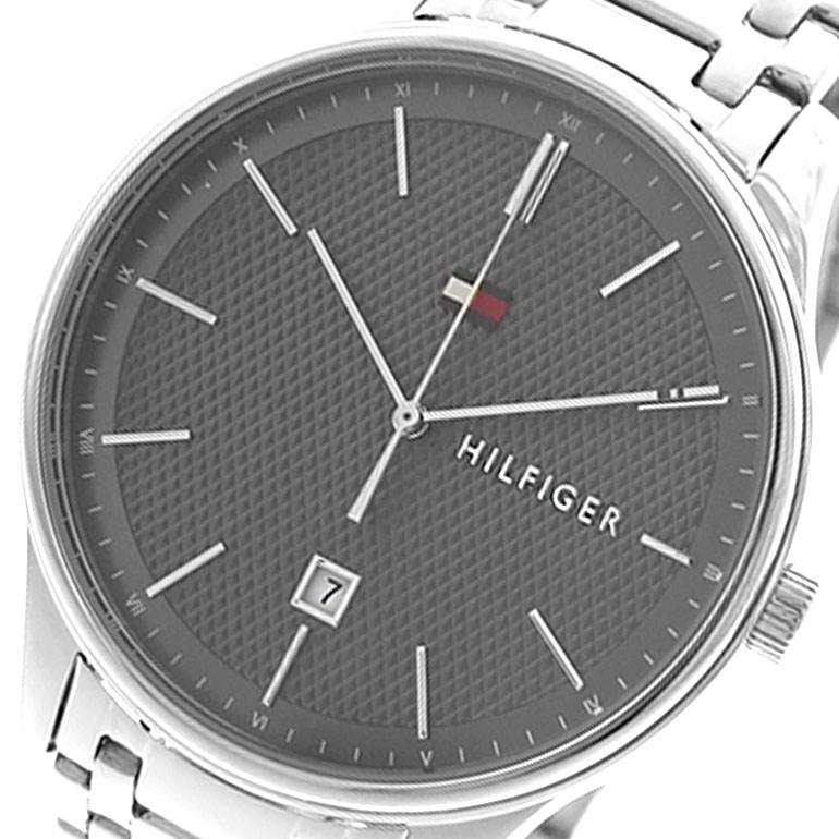 トミーヒルフィガー TOMMY HILFIGER 腕時計 時計 メンズ 1791490 クォーツ グレー シルバー