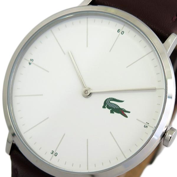 ラコステ LACOSTE 腕時計 時計 メンズ レディース 2010872 クォーツ ホワイト ブラウン