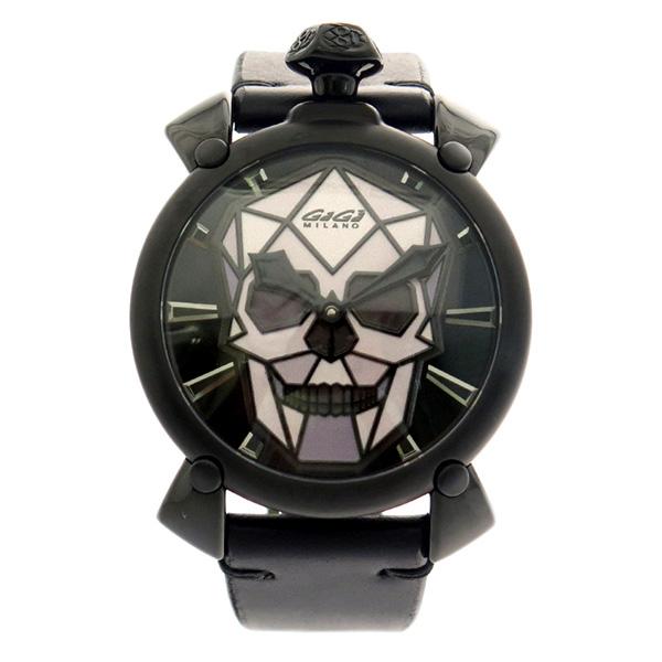 ガガミラノ GAGA MILANO 腕時計 メンズ 506202S 自動巻き ブラック×グレー ブラック
