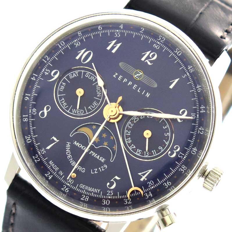 ツェッペリン ZEPPELIN 腕時計 時計 レディース 7037-3 クォーツ ネイビー