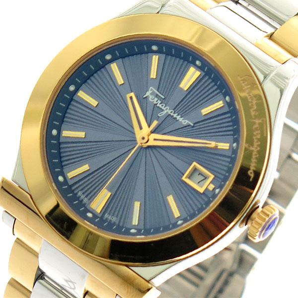 サルバトーレ フェラガモ SALVATORE FERRAGAMO 腕時計 メンズ FF3240015 クォーツ ネイビー シルバー×ゴールド【送料無料】