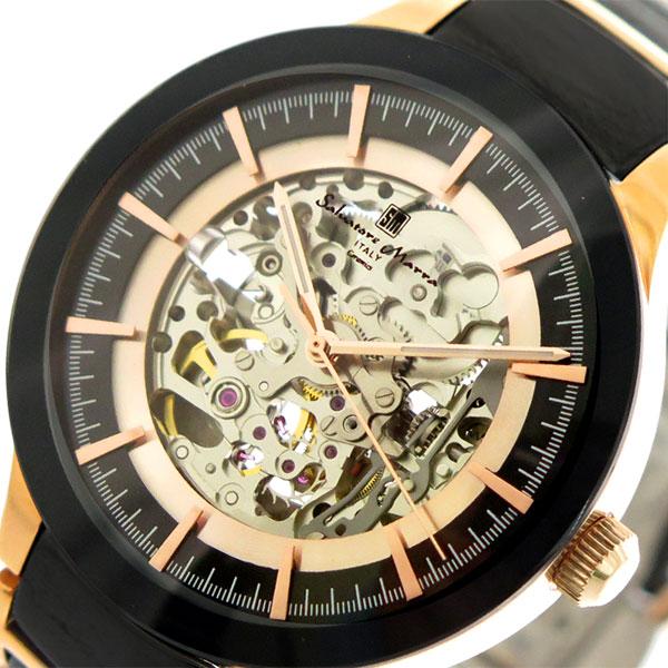 サルバトーレマーラ SALVATORE MARRA 腕時計 時計 メンズ レディース SM17122-PGBK 自動巻き ブラック ピンクゴールド