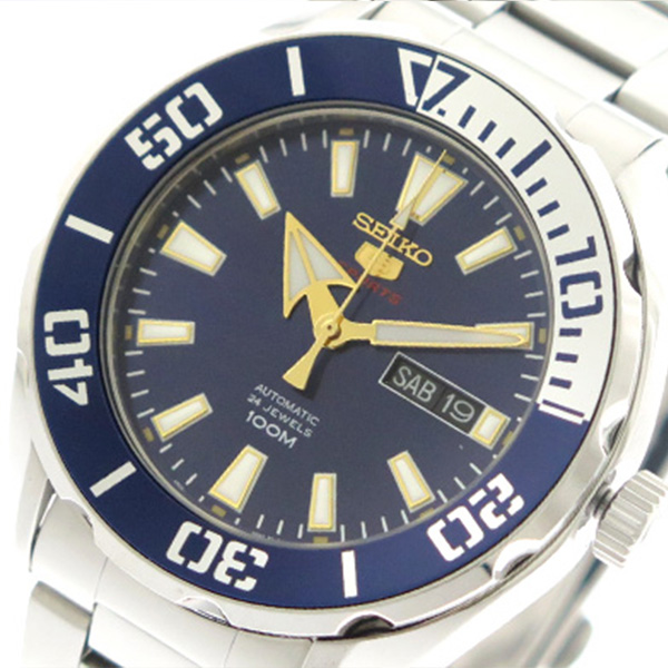 セイコー SEIKO 腕時計 時計 メンズ SRPC51K1 セイコーファイブ スポーツ 自動巻き ブルー シルバー
