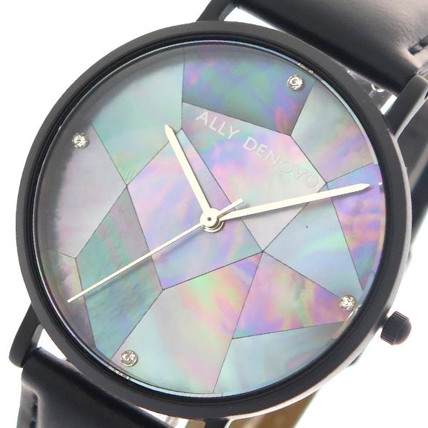 アリーデノヴォ ALLY DENOVO 腕時計 時計 レディース 36mm AF5003-5 GAIA PEARL クォーツ ネイビーシェル ブラック