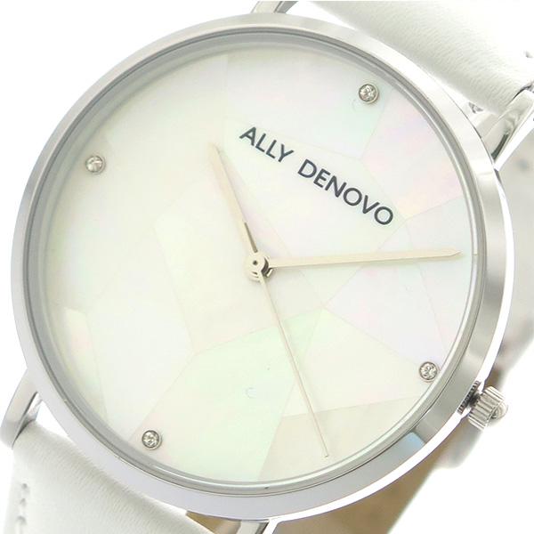 アリーデノヴォ ALLY DENOVO 腕時計 時計 レディース 36mm AF5003-6 GAIA PEARL クォーツ ホワイトシェル ホワイト