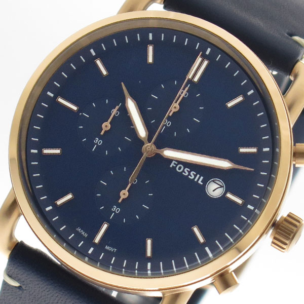 フォッシル FOSSIL 腕時計 時計 メンズ FS5404 クォーツ ネイビー