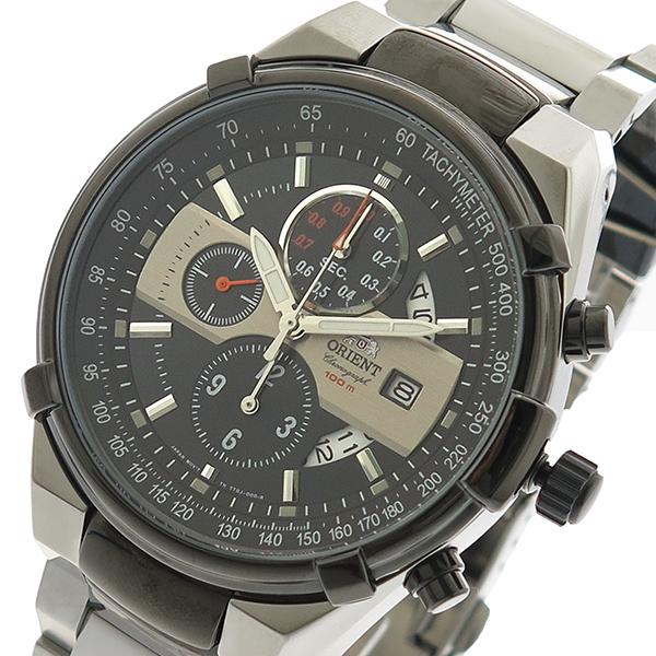 オリエント ORIENT 腕時計 時計 メンズ FTT0J001B0 クォーツ ブラック シルバー