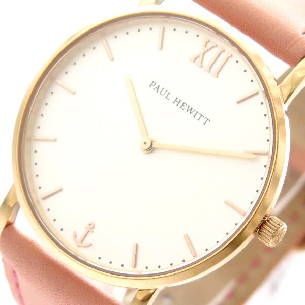ポールヒューイット PAUL HEWITT 腕時計 時計 レディース PH-SA-R-SM-W-24S 6453320 セラーライン Sailor Line クオーツ ホワイト ピンク