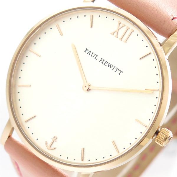 ポールヒューイット PAUL HEWITT 腕時計 時計 メンズ レディース PH-SA-R-ST-W-24S 6453318 セラーライン Sailor Line クオーツ ホワイト ピンク