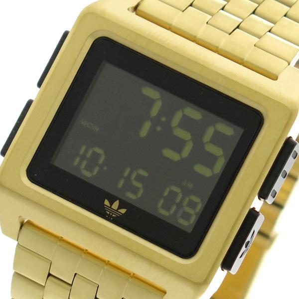 アディダス ADIDAS 腕時計 時計 メンズ レディース Z01-513 アーカイブ-M1 ARCHIVE-M1 CJ6308 クォーツ ブラック ゴールド
