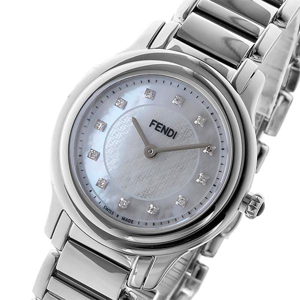 フェンディ FENDI クラシコ ラウンド CLASSICO クオーツ レディース 腕時計 F251024500D1 ホワイトパール ホワイトパール【送料無料】