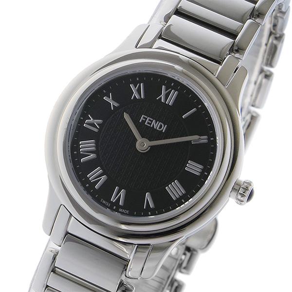 フェンディ FENDI クラシコ ラウンド CLASSICO クオーツ レディース 腕時計 F251021000 ブラック ブラック【送料無料】