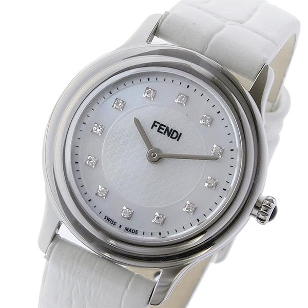 フェンディ FENDI クラシコ ラウンド CLASSICO クオーツ レディース 腕時計 F250024541D1 ホワイトパール ホワイトパール【送料無料】