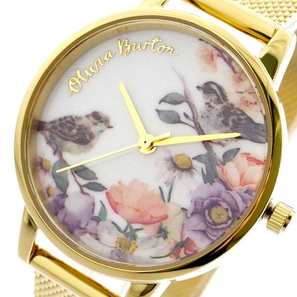 オリビアバートン OLIVIA BURTON 腕時計 レディース OB16ER12 クォーツ ホワイト ゴールド ホワイト【送料無料】