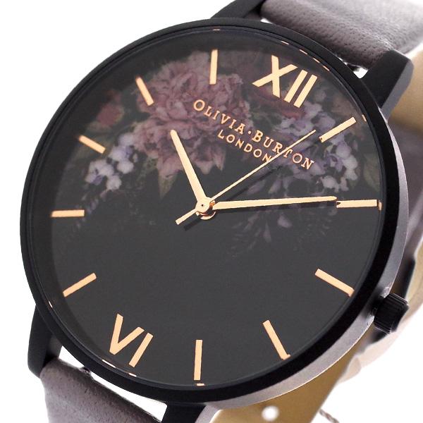 オリビアバートン OLIVIA BURTON 腕時計 レディース OB16AD15 クォーツ ブラック グレー ブラック【送料無料】