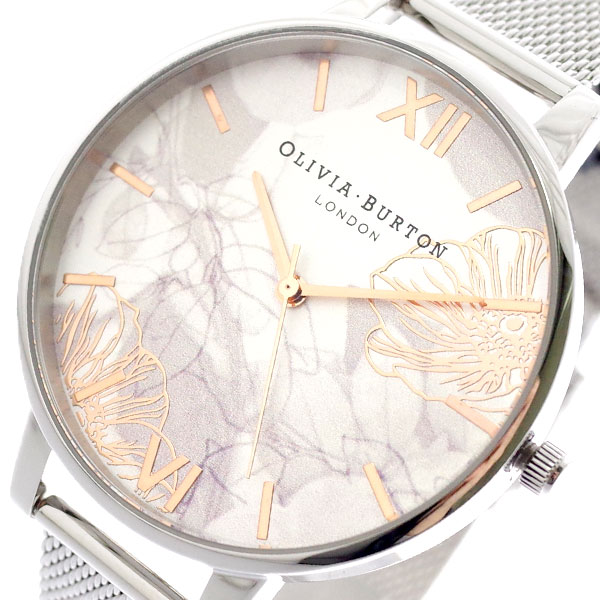 オリビアバートン OLIVIA BURTON 腕時計 レディース OB16VM20 クォーツ シルバー シルバー【送料無料】