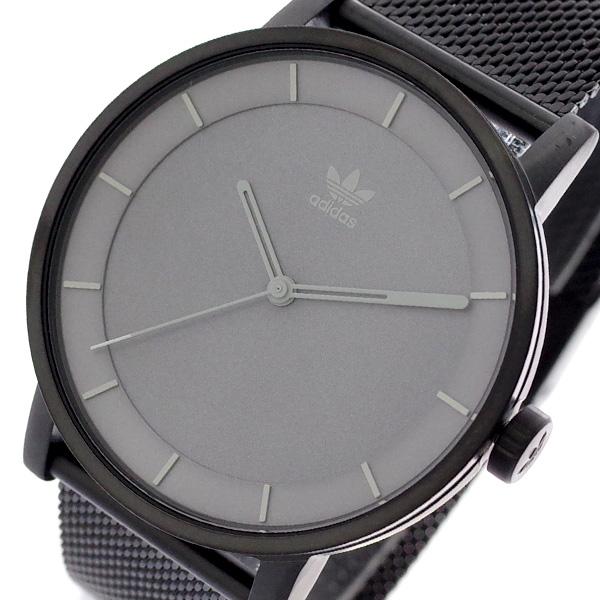 アディダス ADIDAS 腕時計 メンズ レディース Z04-2068 ディストリクト-M1 DISTRICT-M1 CJ6322 クォーツ グレー ブラック ブラック【送料無料】